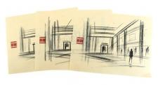 Alice Cullen's Dance Studio Sketch Prints Set