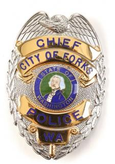 Charlie Swan's Forks Chief Police Badge