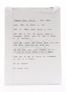 Charlie Swan's Missing Person Notepad
