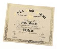 Mike Newton's Unrolled High School Diploma