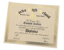 Emmett Cullen's Unrolled High School Diploma