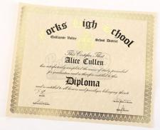 Alice Cullen's Unrolled High School Diploma