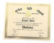 Jasper Hale's Unrolled High School Diploma