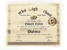 Edward Cullen's High School Diploma