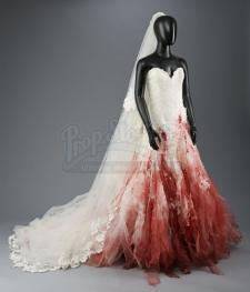 Bella Swan's Bloodstained Nightmare Wedding Dress and Veil
