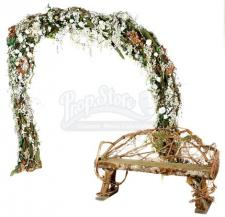 Floral Wedding Arch and Bench